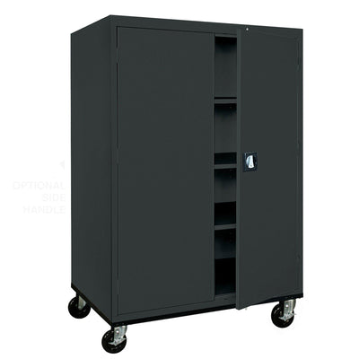 Transport Series Storage Cabinet, 46 x 24 x 60, Black