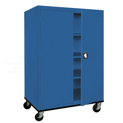 Transport Series Storage Cabinet, 46 x 24 x 60, Blue