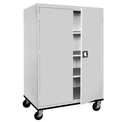 Transport Series Storage Cabinet, 46 x 24 x 60, Dove Gray