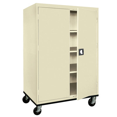 Transport Series Storage Cabinet, 46 x 24 x 60, Putty