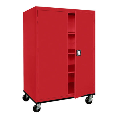 Transport Series Storage Cabinet, 46 x 24 x 60, Red
