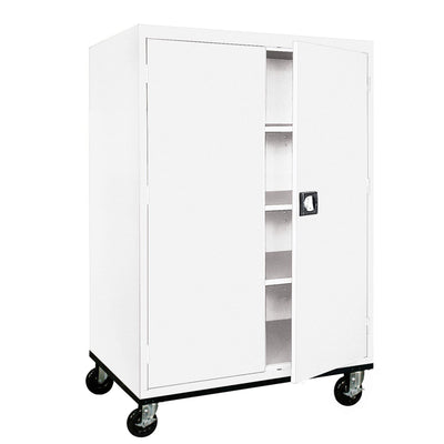 Transport Series Storage Cabinet, 46 x 24 x 60, White