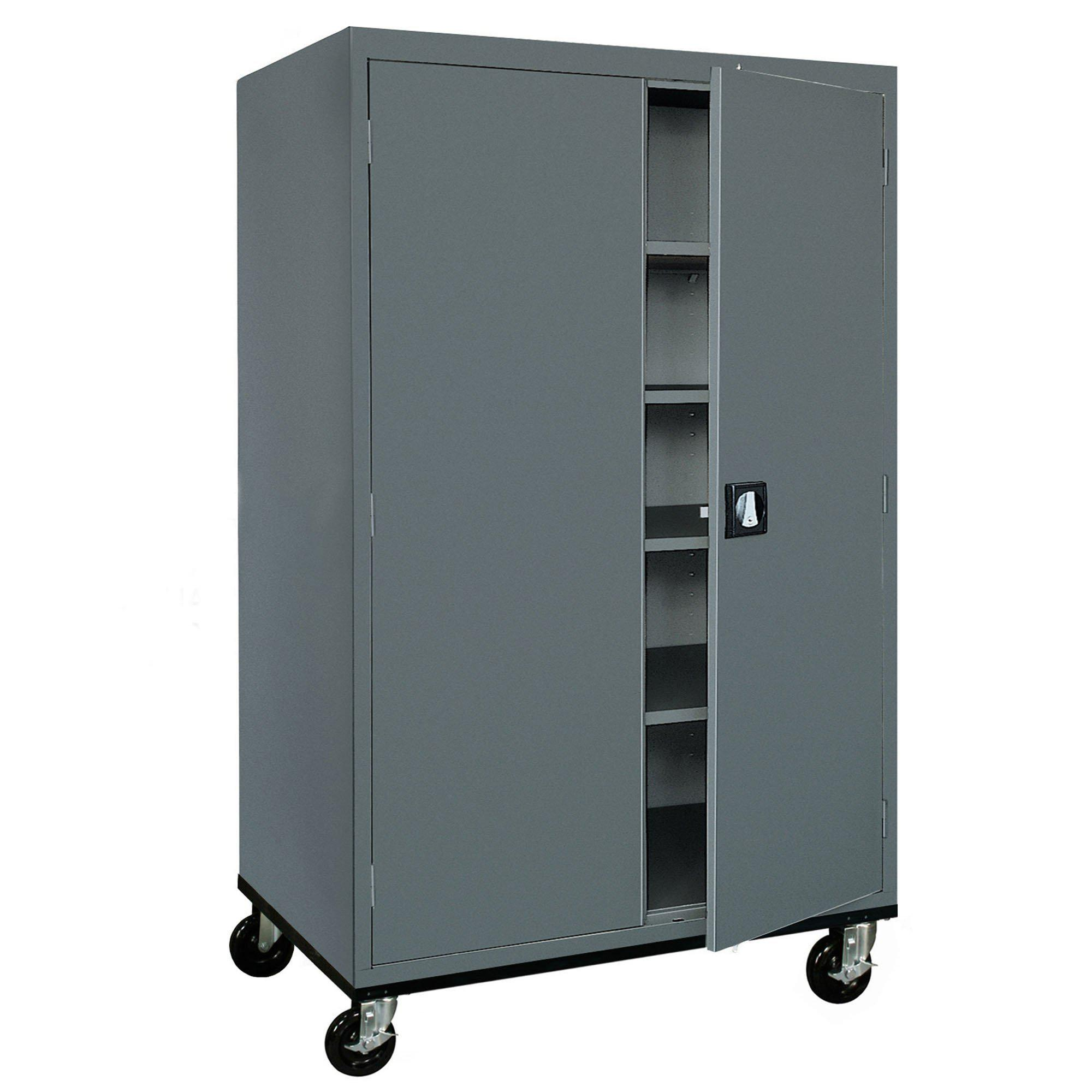 Transport Series Storage Cabinet, 46 x 24 x 72, Charcoal