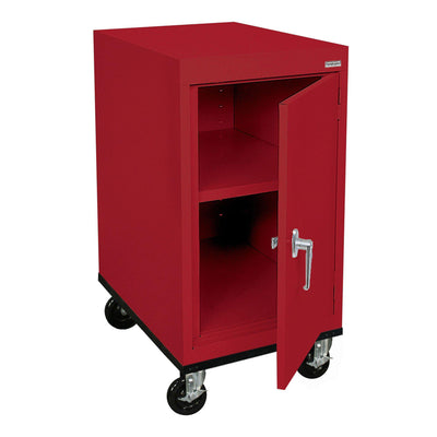 Transport Series Work Height Storage Cabinet, 18 x 24 x 30, Red
