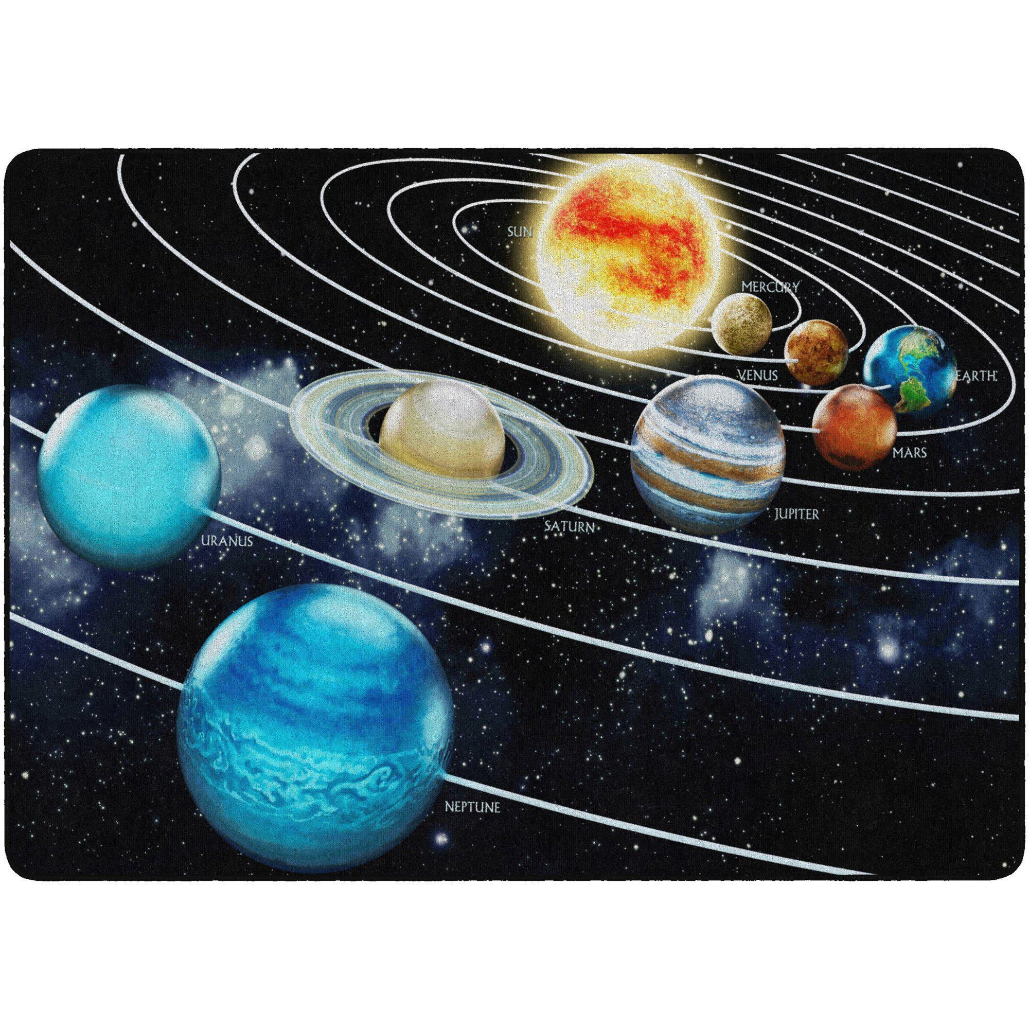 Traveling The Solar System Rugs-Classroom Rugs & Carpets-