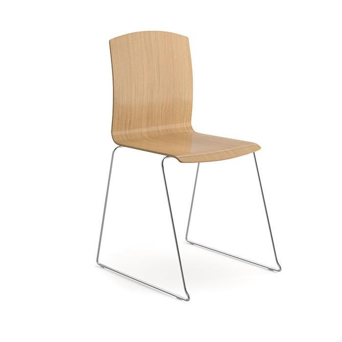 Trinity All Wood Stacking Chair, Beech Wood