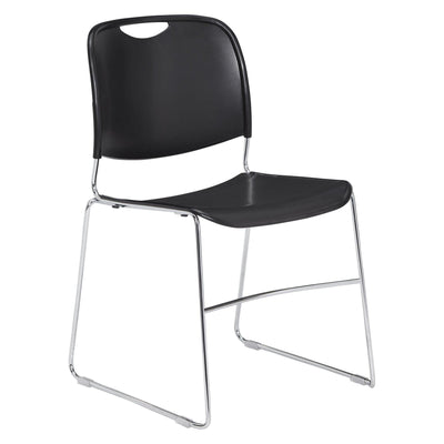 Ultra-Compact Plastic Stack Chair-Chairs-Black-