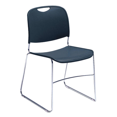 Ultra-Compact Plastic Stack Chair-Chairs-Navy Blue-