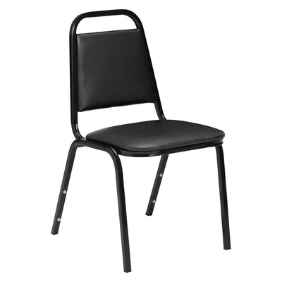 Vinyl Upholstered Stack Chair-Chairs-Panther Black-
