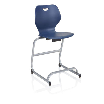 "Intellect Wave Café Stool, 24"" Seat Height"