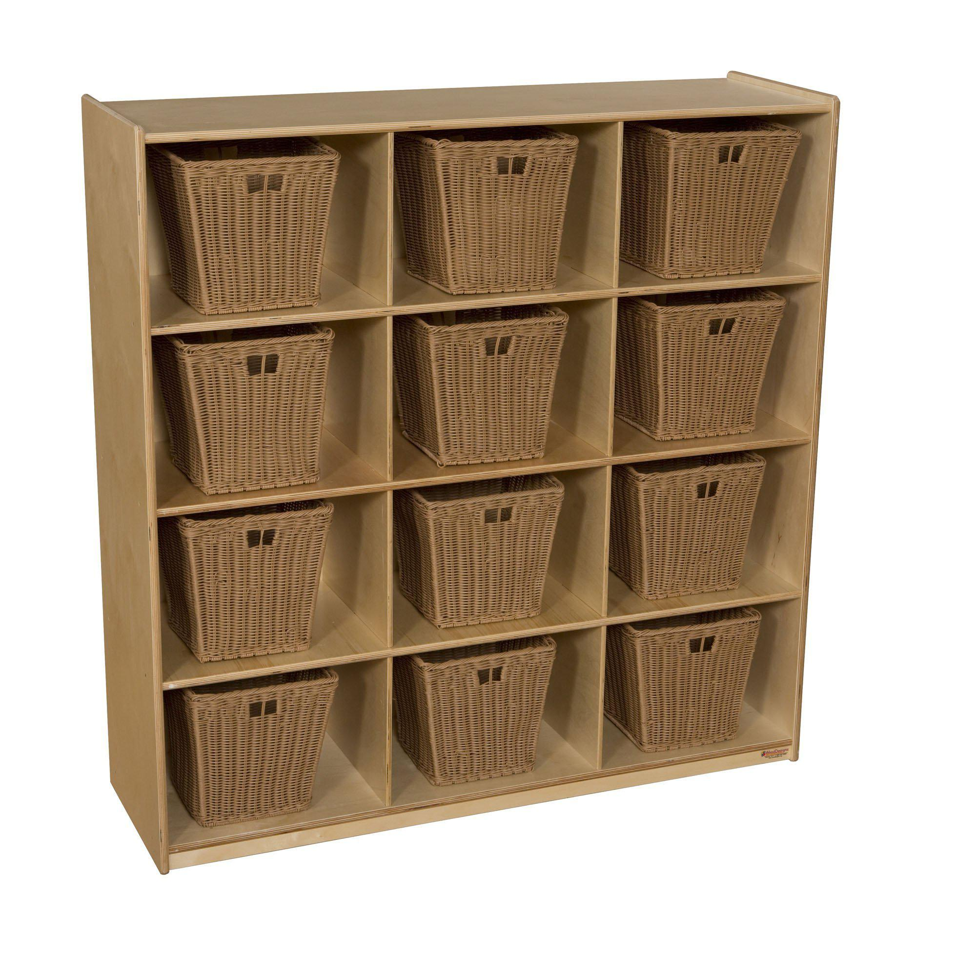 Wood Designs 12 Big Cubby Storage with Medium Baskets