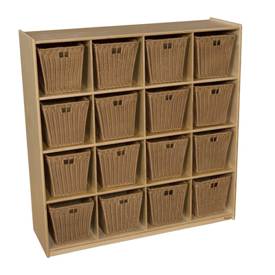 16 Big Cubby Storage with Medium Baskets