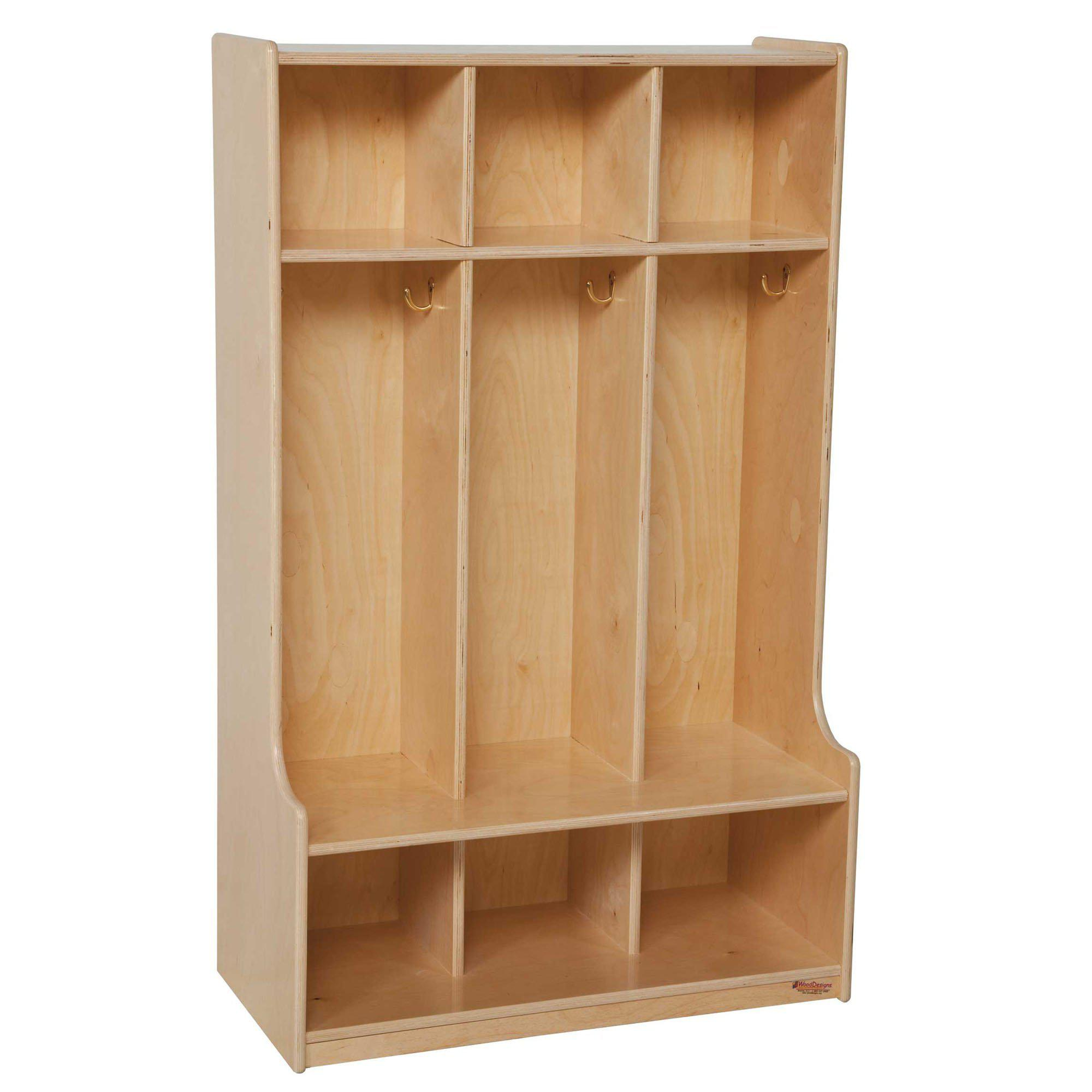 Wood Designs 3 Section Seat Locker