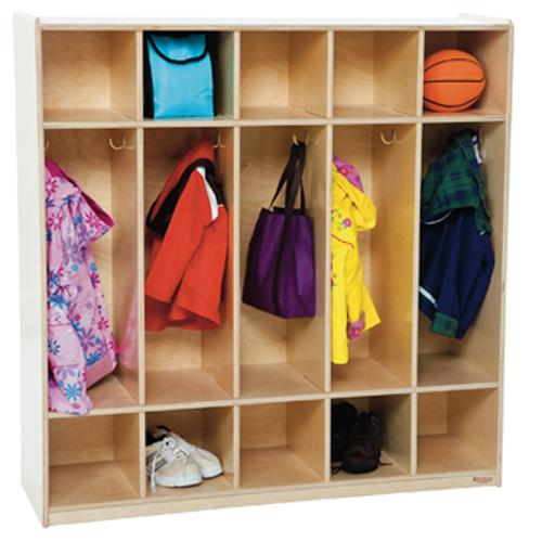 Wood Designs 5 Section Locker-Pre-School Furniture-