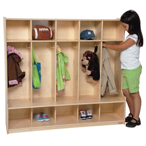 "Wood Designs 5 Section Offset Locker, 54""W-Pre-School Furniture-"