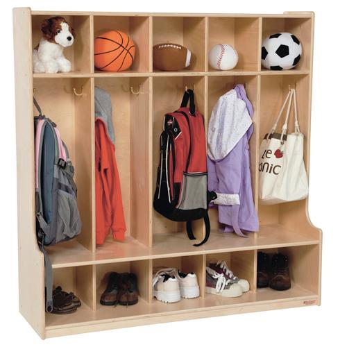 Wood Designs 5 Section Seat Locker-Pre-School Furniture-
