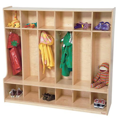 Wood Designs 6 Section Seat Locker-Pre-School Furniture-