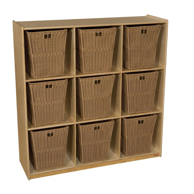 9 Cubby Storage with Large Baskets
