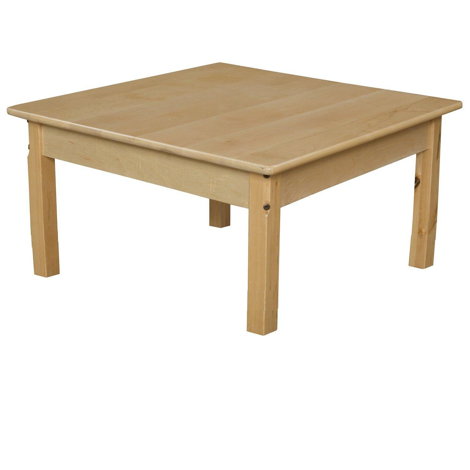 "Wood Designs Birch Hardwood Tables-Tables-30"" Square-14"" Fixed-"