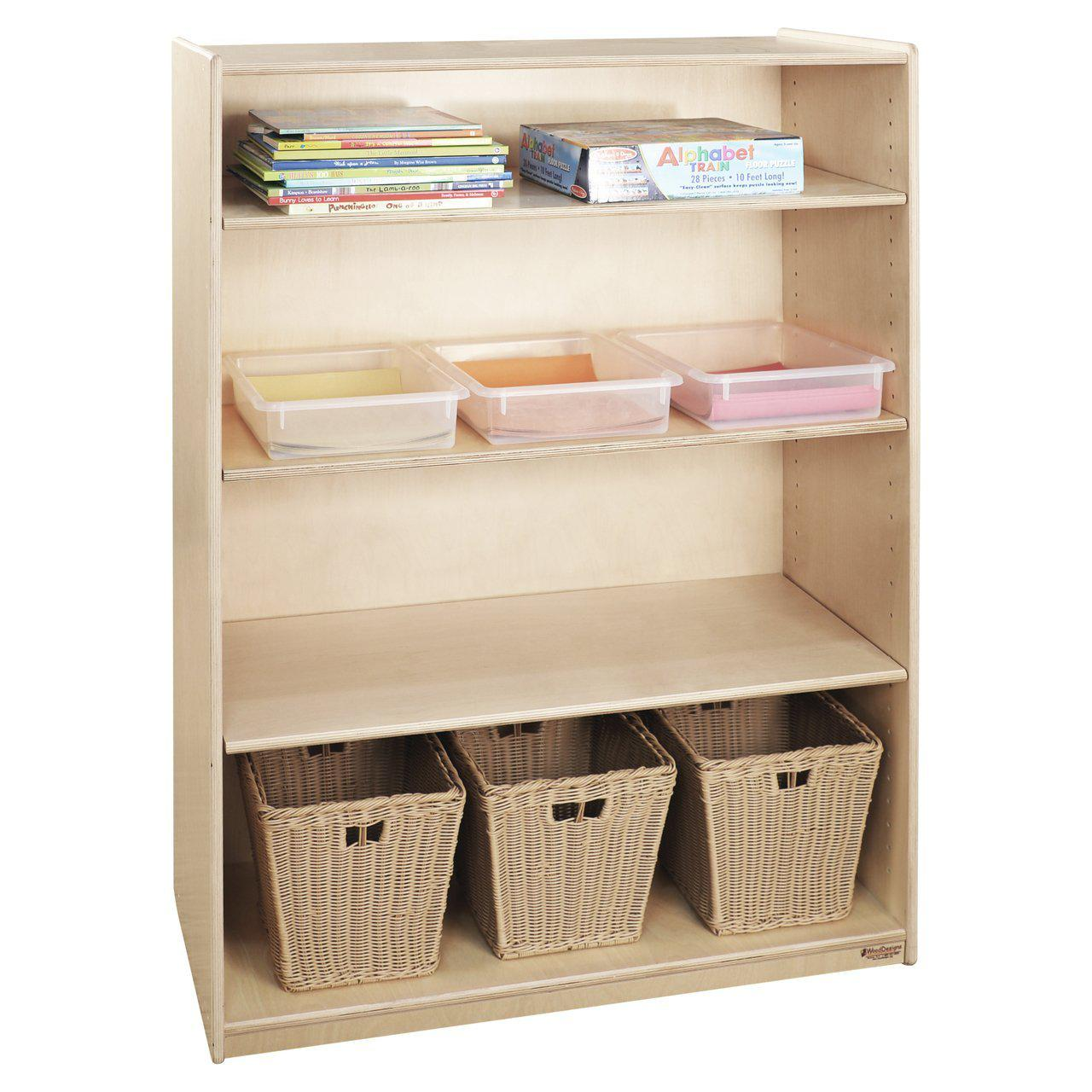 "Wood Designs Bookshelf with Adjustable Shelves, 49""H-Pre-School Furniture-"