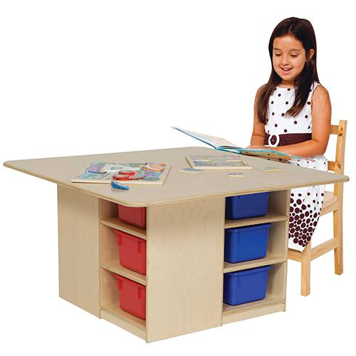 Wood Designs Cubby Table with 12 Trays-Pre-School Furniture-