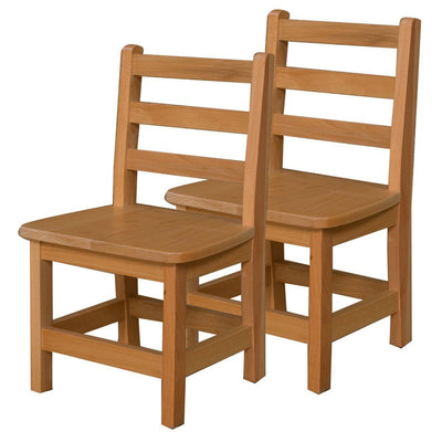 "Wood Designs Hardwood Ladderback Chairs, Carton of 2-Chairs-12""-"
