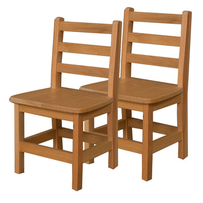 "Wood Designs Hardwood Ladderback Chairs, Carton of 2-Chairs-13""-"
