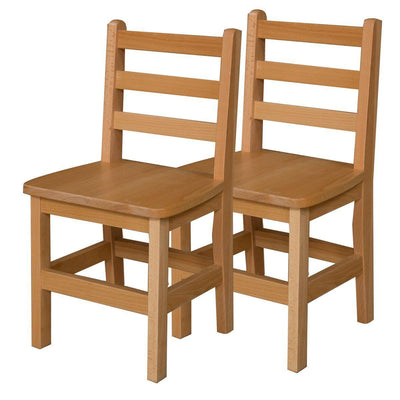 "Wood Designs Hardwood Ladderback Chairs, Carton of 2-Chairs-14""-"