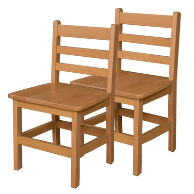 "Wood Designs Hardwood Ladderback Chairs, Carton of 2-Chairs-15""-"