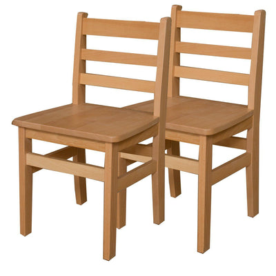 "Wood Designs Hardwood Ladderback Chairs, Carton of 2-Chairs-16""-"