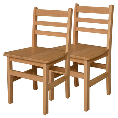 "Wood Designs Hardwood Ladderback Chairs, Carton of 2-Chairs-18""-"