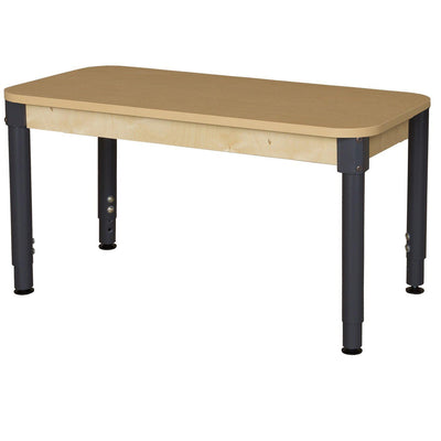 "Wood Designs High Pressure Laminate Activity Tables-Tables-24"" x 48"" Rectangle-12"" - 17"" Adjustable-"