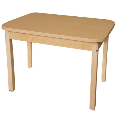"Wood Designs High Pressure Laminate Activity Tables-Tables-24"" x 48"" Rectangle-24"" Fixed-"