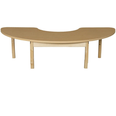 "Wood Designs High Pressure Laminate Activity Tables-Tables-24"" x 76"" Half Circle-14"" Fixed-"