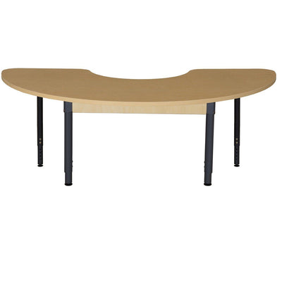 "Wood Designs High Pressure Laminate Activity Tables-Tables-24"" x 76"" Half Circle-18"" - 29"" Adjustable-"