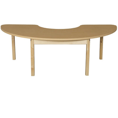 "Wood Designs High Pressure Laminate Activity Tables-Tables-24"" x 76"" Half Circle-22"" Fixed-"
