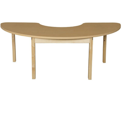 "Wood Designs High Pressure Laminate Activity Tables-Tables-24"" x 76"" Half Circle-26"" Fixed-"