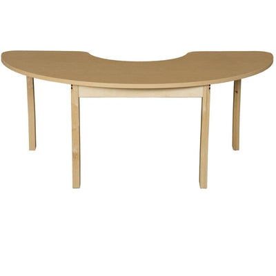 "Wood Designs High Pressure Laminate Activity Tables-Tables-24"" x 76"" Half Circle-29"" Fixed-"