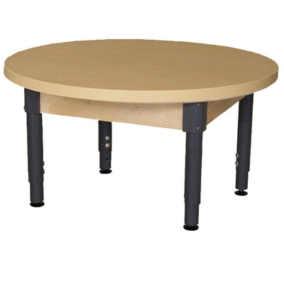 "Wood Designs High Pressure Laminate Activity Tables-Tables-36"" Round-12"" - 17"" Adjustable-"