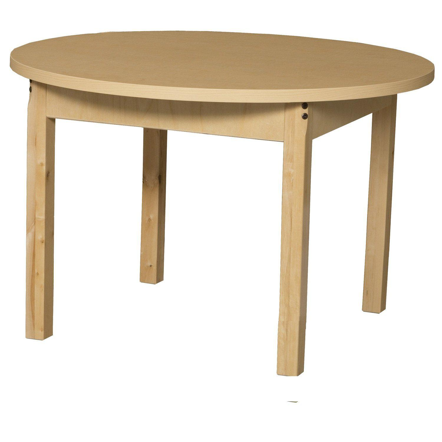 "Wood Designs High Pressure Laminate Activity Tables-Tables-36"" Round-14"" Fixed-"