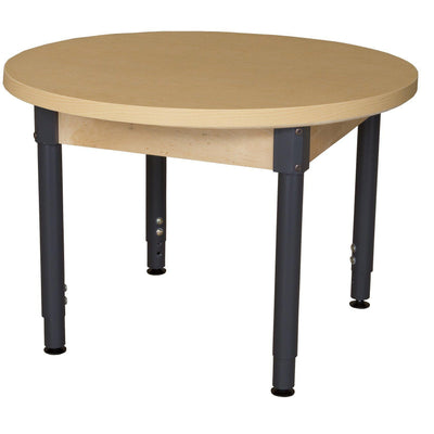 "Wood Designs High Pressure Laminate Activity Tables-Tables-36"" Round-18"" - 29"" Adjustable-"