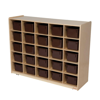25 Tray Storage with Brown Trays