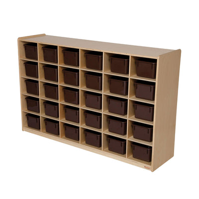 30 Tray Storage with Brown Trays