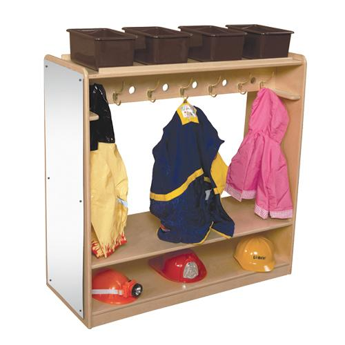 Wood Designs Mobile Double Sided Dress-Up Locker with Mirror