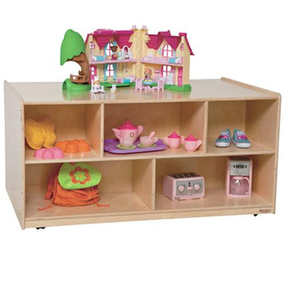 "Wood Designs Mobile Double Storage Island, 23-1/2"" H-Pre-School Furniture-"