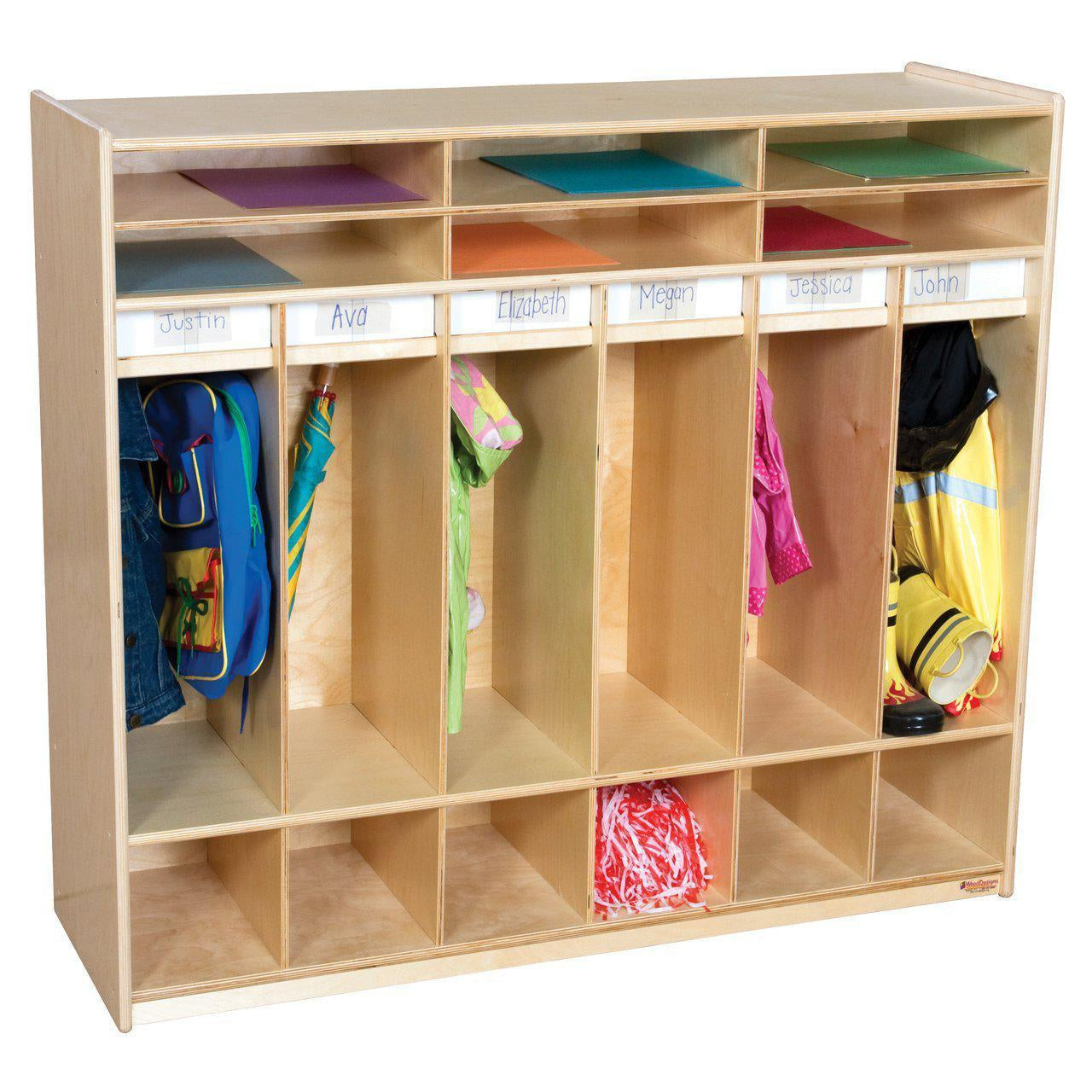 Wood Designs Open Six Shelf Locker-Pre-School Furniture-
