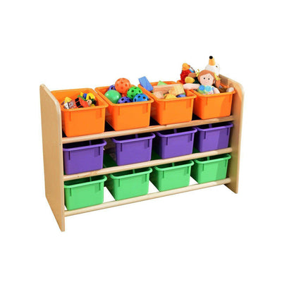 Wood Designs See-All Storage with 12 Trays-Pre-School Furniture-Assorted Pastel-