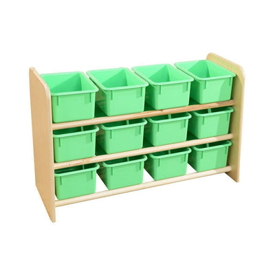 Wood Designs See-All Storage with 12 Trays-Pre-School Furniture-Lime Green Pastel-