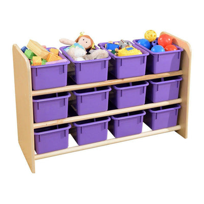 Wood Designs See-All Storage with 12 Trays-Pre-School Furniture-Purple Pastel-
