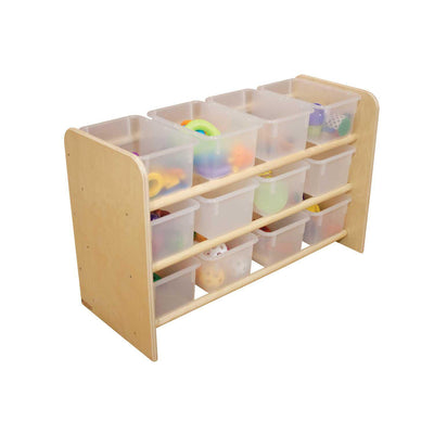 Wood Designs See-All Storage with 12 Trays-Pre-School Furniture-Translucent-